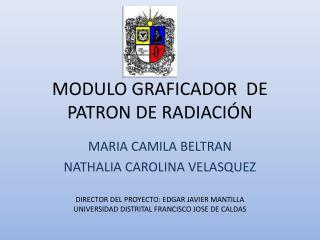 MODULO GRAFICADOR  DE PATRON DE RADIACI�N