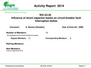 Activity Report   2014