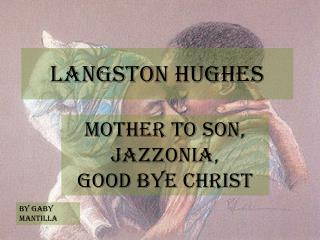 analysis of langston hughes goodbye christ Complete summary of langston hughes' the collected poems of langston hughes enotes the collected poems of langston hughes goodbye christ.