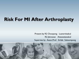 Risk For MI After  Arthroplasty