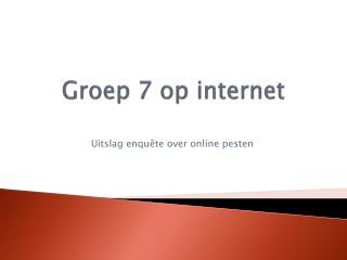 Groep 7 op internet