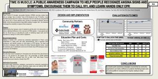 Media:  April-June, 2012       Radio PSA's  $20,000 Print and Social Medial   $3000