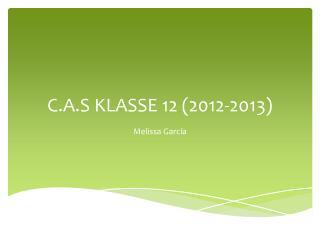 C.A.S KLASSE 12 (2012-2013)
