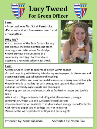 Lucy Tweed For Green Officer