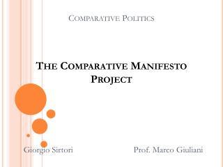 Comparative Politics The Comparative Manifesto Project