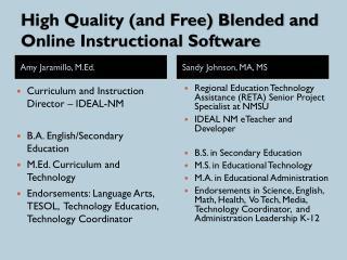 High Quality (and Free) Blended and Online Instructional Software