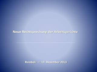 Reinbek   –  17. Dezember 2013