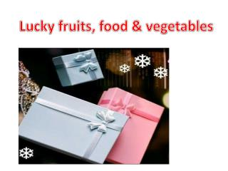 Lucky fruits, food & vegetables