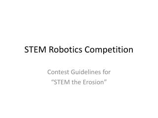 STEM Robotics Competition