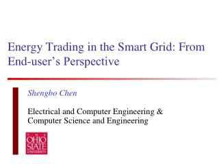 Energy Trading in the Smart Grid: From  End-user's Perspective