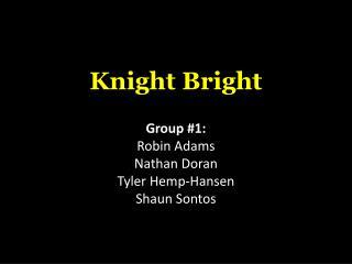 Knight Bright Group #1: Robin  Adams Nathan Doran  Tyler Hemp-Hansen Shaun  Sontos