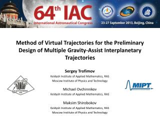 Sergey Trofimov Keldysh Institute of Applied  Mathematics, RAS