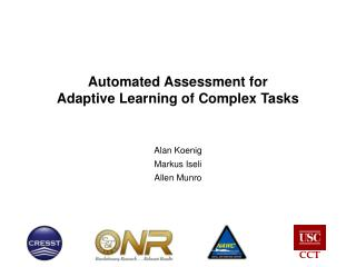Automated Assessment for  Adaptive Learning of Complex Tasks