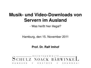Prof. Dr. Ralf Imhof