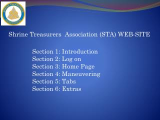 Shrine Treasurers  Association (STA) WEB-SITE