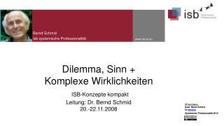 Bernd Schmid Isb systemische  P rofessionalität