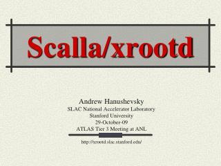 Scalla/xrootd