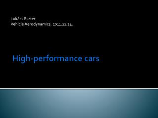 High-performance cars