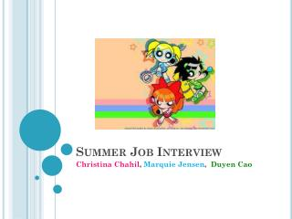 Summer Job Interview