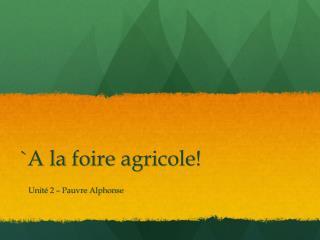 `A la  foire agricole !