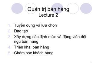 Qun tr b n h ng Lecture 2