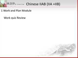 Intern Learning Module
