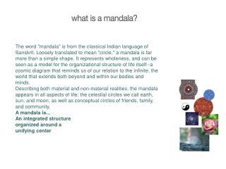 Mandala Presentation