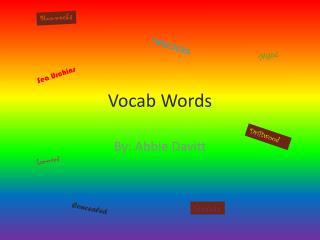 Vocab Words