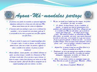 Ayana - Mâ -mandalas partage