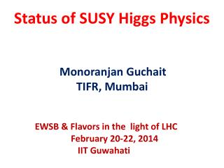 Status of SUSY Higgs Physics