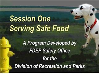 Session One Serving Safe Food