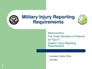 Military Injury Reporting Requirements