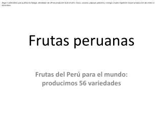 Frutas peruanas