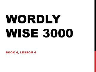 Wordly  Wise 3000