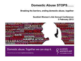 Scottish Women�s Aid Annual Conference  5 February 2013