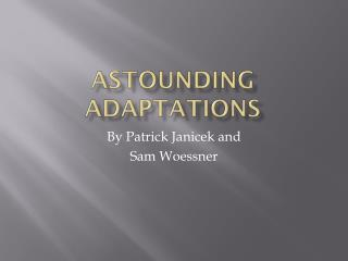 Astounding Adaptations