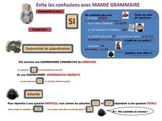 Evite les confusions  avec MAMIE GRAMMAIRE
