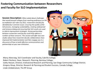 Fostering Communication between Researchers
