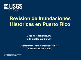 Revisión de Inundaciones Históricas en Puerto Rico