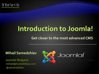 Introduction to Joomla!
