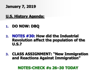 Immigration in the Industrial Revolution