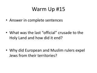 Warm Up #15
