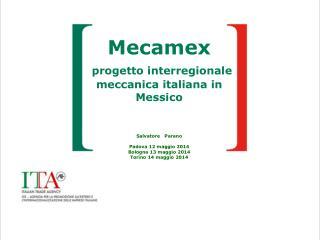 perché il progetto Mecamex ?