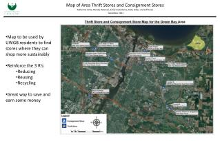 Map of Area Thrift Stores and Consignment Stores