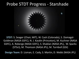 Probe STDT Progress - Starshade