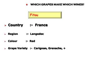 WHICH GRAPES MAKE WHICH WINES?