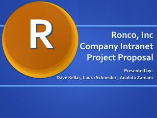 Ronco , Inc Company Intranet Project  Proposal