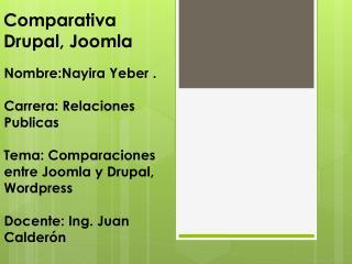 Comparativa Drupal, Joomla