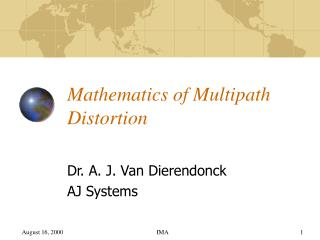 Mathematics of Multipath Distortion
