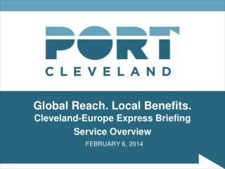 Global Reach. Local Benefits.